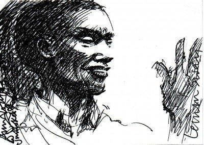 poet LEMM SISSAY at Jumoke's RS